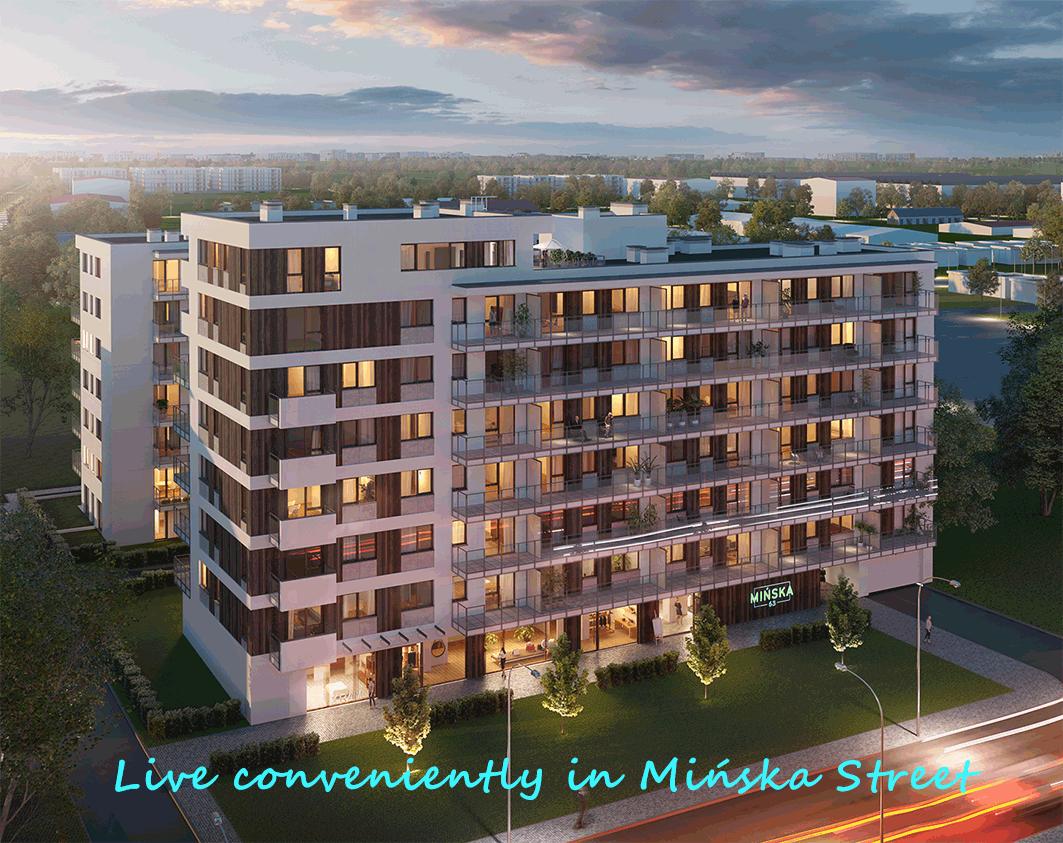 Live conveniently in Mińska Street